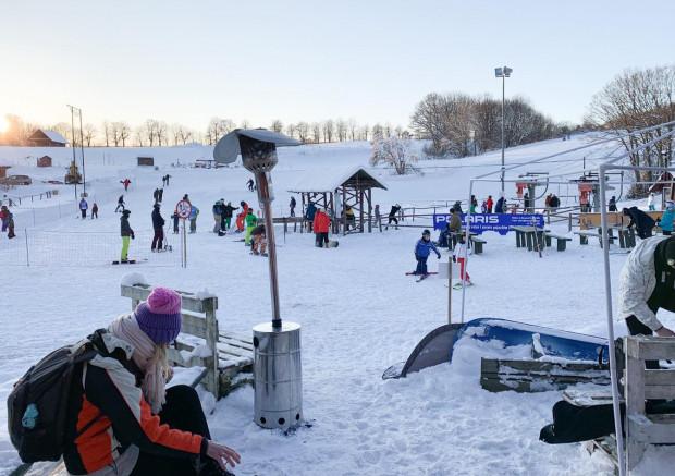 Stok narciarski w Przywidzu.