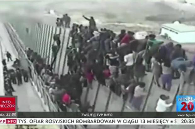 Takimi zdjęciami w TVP Info ilustrowano informację o powołaniu Rady Imigrantów w Gdańsku.
