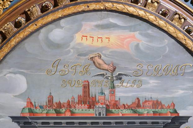 """Fragment obrazu """"Apoteoza Gdańska"""" dostępnego do obejrzenia w Muzeum Gdańska"""