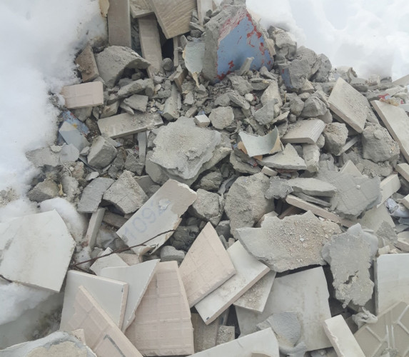 Takie odpady budowlane podrzucono do lasu w Sopocie. Sprawca został ukarany 500-złotowym mandatem.