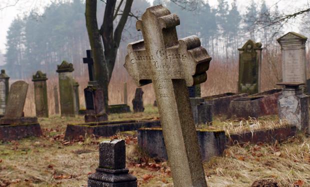 Anna i Krzysztof Jakubowscy przez dwa lata zwiedzali cmentarze Pomorza. Nz. cmentarz mennonicki w Barcicach.
