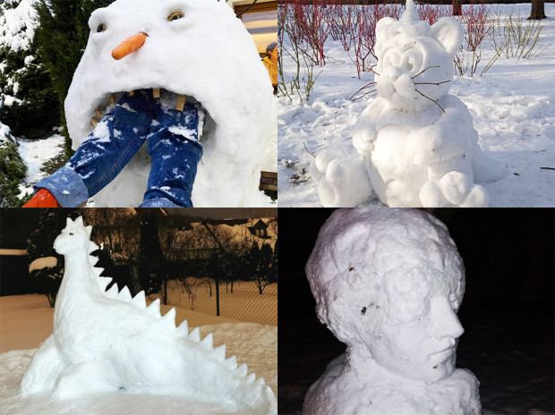 Czytelnicy przesłali nam ponad 150 zdjęć z zimowymi rzeźbami.