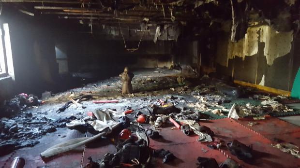 Tak wyglądał klub w maju 2017 r. gdy został podpalony. Do środka przez okno po lewej stronie wpadł koktajl Mołotowa.