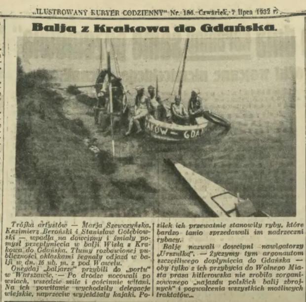 """Z Krakowa do Gdańska... balią. Aktorzy nazwali balię """"Urszulką""""."""