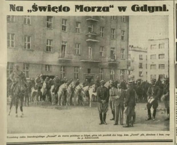 """Fragment artykułu o """"Święcie Morza"""" w Gdyni, zamieszczony w """"Ilustrowanym Kurierze Codziennym""""."""