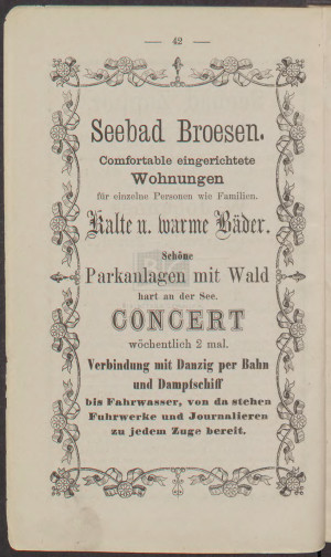 Reklama informująca o koncercie w Brzeźnie.