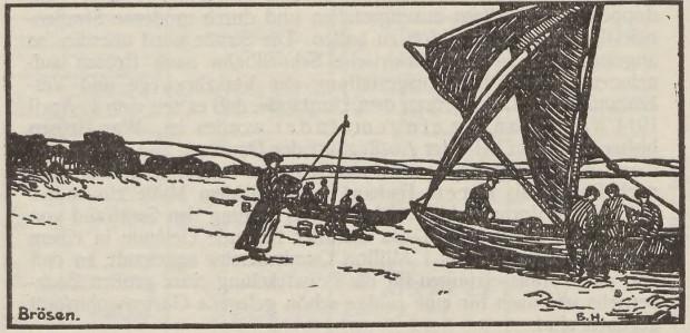 Grafika przedstawiająca Brzeźno, ok. 1914 r.