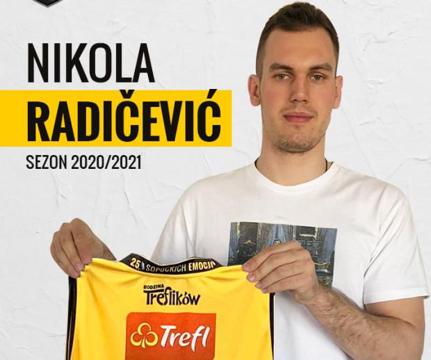 Nikola Radicević będzie grał w Treflu Sopot z numerem 45.