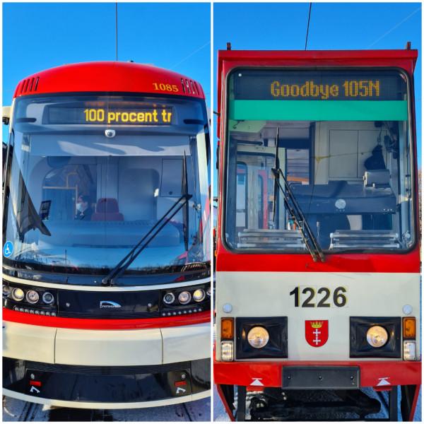 Od dziś po Gdańsku kursować będą już tylko tramwaje z niską podłogą.