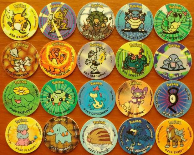 Żetony z podobiznami Pokemonów dodawane były do chipsów.