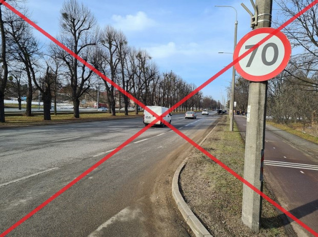 Jazda z prędkością 70 km/h al. Zwycięstwa i al. Grunwaldzką przechodzi do historii.