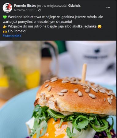 Wiele lokali, w tym również Pomelo, oficjalnie zaprasza do siebie na swoje dania.