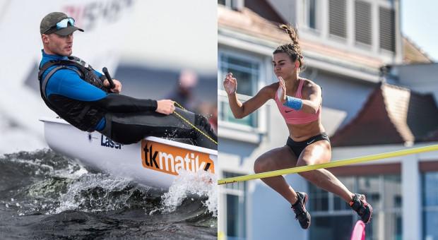 Najlepsi w gdyński sporcie w 2020 roku: lekkoatletka Agnieszka Kaszuba i żeglarz Filip Ciszkiewicz.