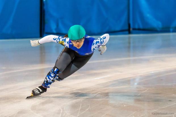 Nicola Mazur (na zdjęciu) na mistrzostwach Polski w short tracku sięgnęła po cztery medale.