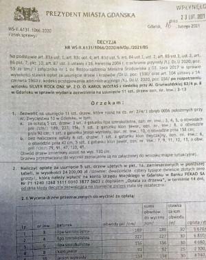 Taki dokument opublikował w mediach społecznościowych radny Przemysław Majewski.