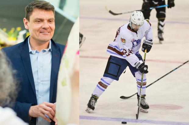 Adam Korol, dyrektor Biura Prezydenta Gdańska ds. Sportu (z lewej) czeka na nowe pomysły na profesjonalny hokej na lodzie w Gdańsku. Miejskie pieniądze z tytułu promocji mają być uzależnione od wiarygodności partnera oraz osiąganych wyników.
