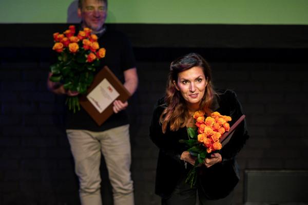 Edyta Janusz-Ehrlich podczas wręczenia Nagród Teatralnych w Gdańsku w 2020 r.