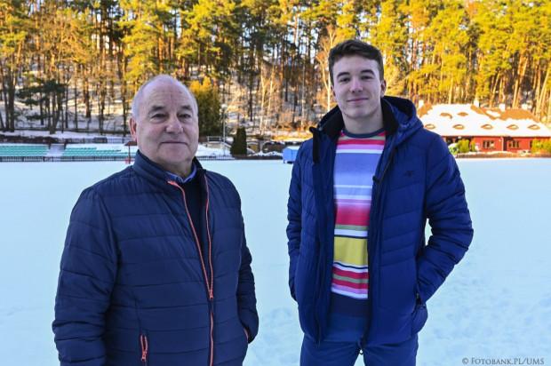 Jakub Szymański i trener Bernard Werner