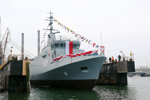 ORP Mewa, trzeci już okręt projektu Kormoran, zwodowano w grudniu 2020 r. w stoczni Remontowa Shipbuilding w Gdańsku.
