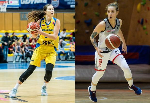 Amalia Rembiszewska z VBW Arki Gdynia (z lewej) i Sylwia Bujniak z DGT AZS Politechniki Gdańskiej (z prawej) są zgodne i chcą zwyciężyć w sobotnich meczach. Tyle, że żółto-niebieskie zakończą wówczas ćwierćfinałową batalię, a akademiczki ją co najwyżej przedłużą.