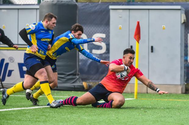 Wiktor Wilczuk już w 6. minucie otworzył wynik derbów Trójmiasta w rugby pomiędzy Arką Gdynia a Ogniwem Sopot.