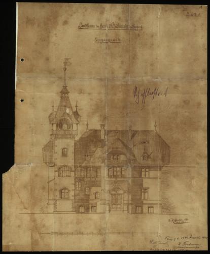 Projekt i plany rezydencji, 1894 r.