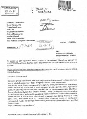 Pomysł - w formie interpelacji - trafił już do prezydent Gdańska.