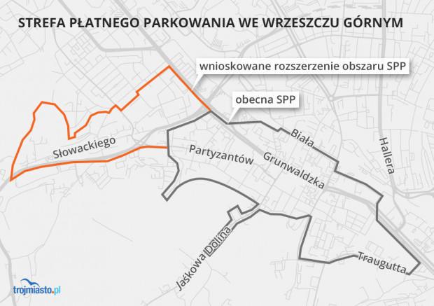 Rozszerzenie granicy SPP we Wrzeszczu Górnym.