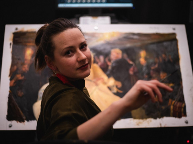 """Trzytygodniowe szkolenia malarzy w Sopocie dobiegają końca. Na początku maja artyści przystąpią już do rzeczywistych prac nad animacją """"Chłopów""""."""