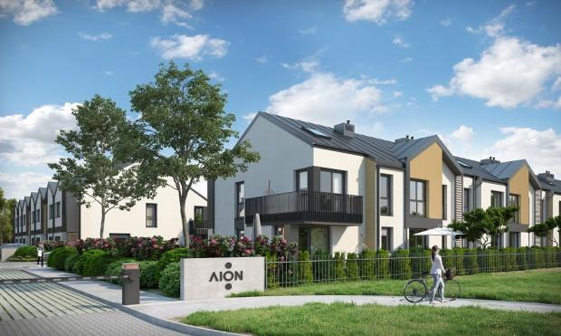 Domy na Dobre - osiedle domów jednorodzinnych w zabudowie szeregowej powstawało będzie w trzech etapach.