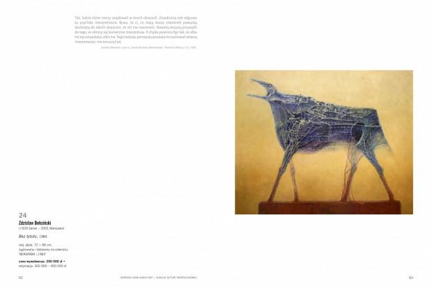 """Obraz """"Bez tytułu"""" z 1983 roku został sprzedany za 800 tys. złotych, co stanowi rekord na skalę krajową i światową."""