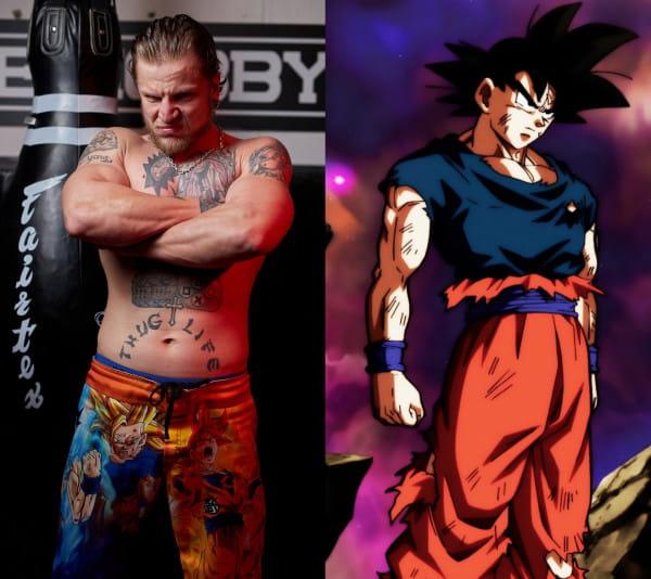 """""""Ryjek"""" jest wielkim fanem Son Goku, głównej postaci anime """"Dragon Ball""""."""
