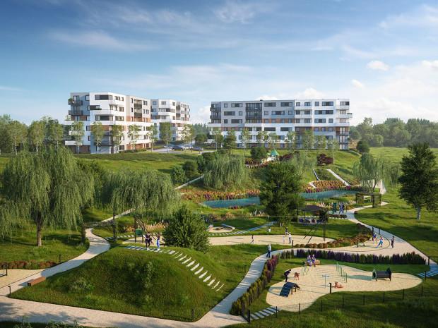 Prywatny park w inwestycji Biotura wzbogacą liczne udogodnienia dla mieszkańców.