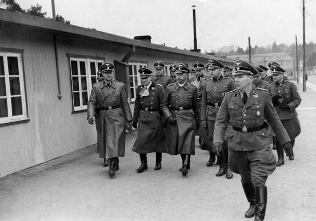 Wizyta Heinricha Himmlera w obozie Stutthof, 1941 r. Fot. z archiwum Muzeum Stutthof w Sztutowie.