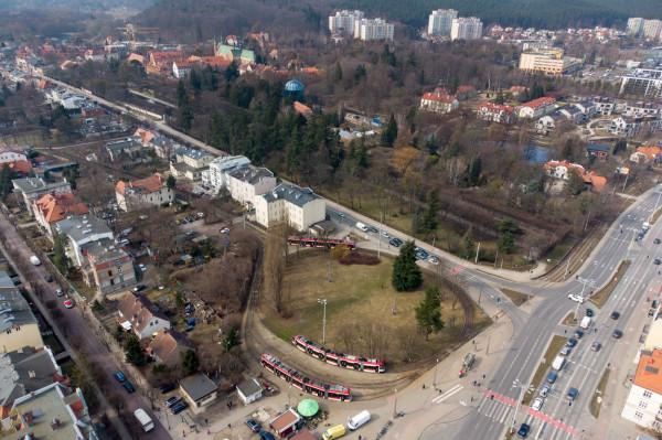 Wnętrze pętli tramwajowej w Oliwie zostanie zagospodarowane z korzyścią dla pasażerów.