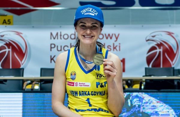 5.09 - Taką średnią notę waszych głosów uzyskała Alice Kunek w marcowych meczach koszykarek VBW Arki Gdynia.