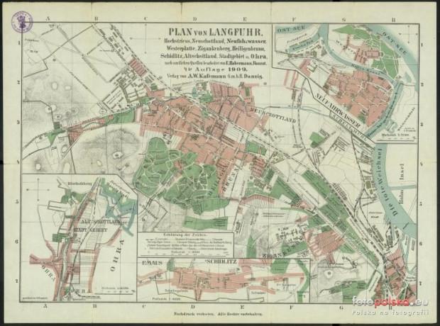 Plan Wrzeszcza z 1909 r.