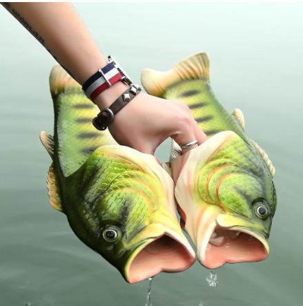 Klapki w kształcie ryb