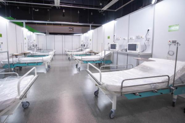 W szpitalu tymczasowym w halach Amber Expo zajęte są 183 łóżka na 188 miejsc.