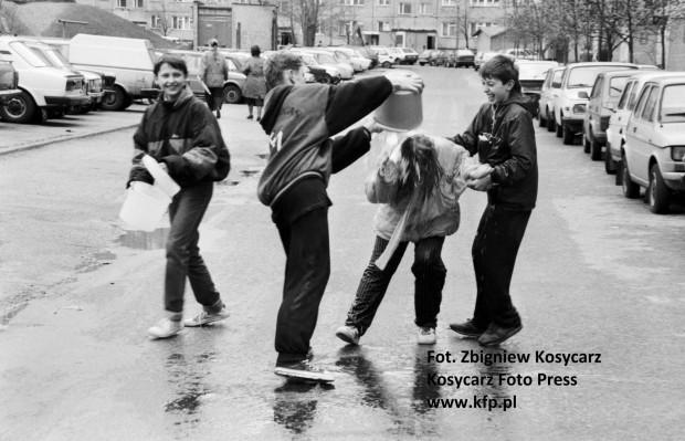 Gdańsk-Zaspa, ul. Pilotów, 21 kwietnia 1992 r.