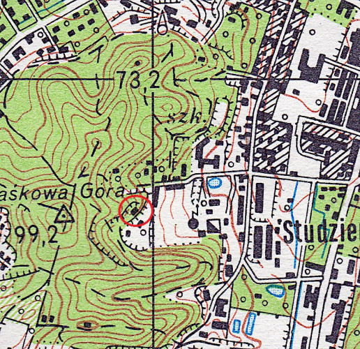 Budynek kawiarni był widoczny jeszcze na mapie Gdańska z 1981 r.