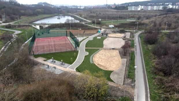 Nowe zagospodarowanie rekreacyjne przy zbiorniku Augustowska.