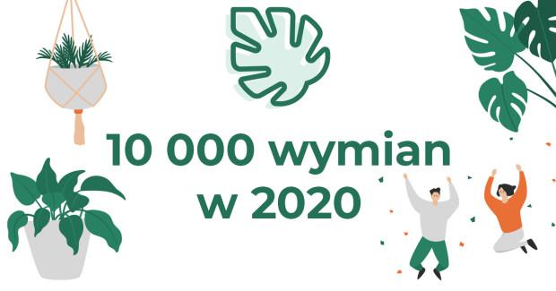 W samym 2020 roku dzięki aplikacji aż 10 tys. osób w całej Polsce wymieniło się swoimi roślinami.