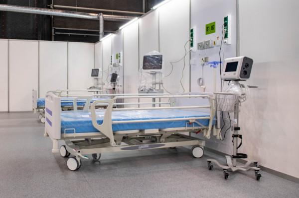 W szpitalu tymczasowym Amber Expo obecnie są zajęte 193 łóżka.