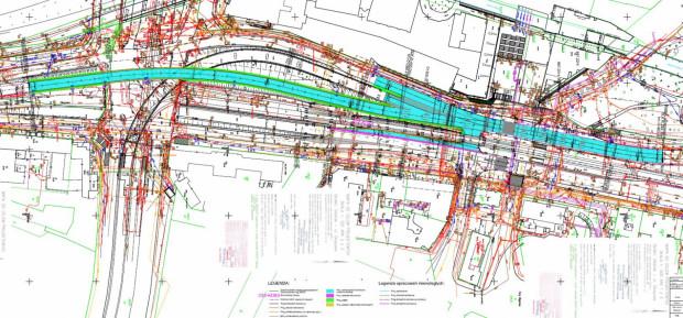 Zakres modernizacji ulic w ramach budowy przejścia dla pieszych.