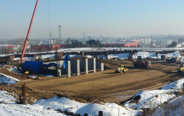 Budowa spalarni trwa 8 miesięcy. Zdjęcia z połowy marca tego roku.