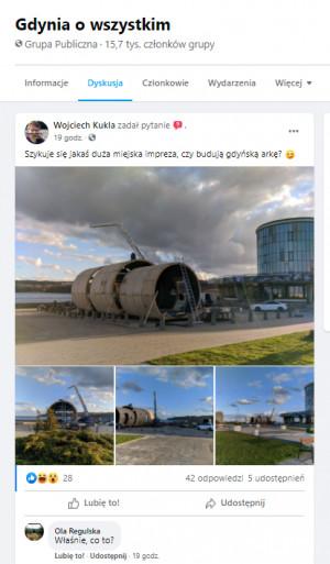 """Zdjęcia zamieszczone w facebookowej grupie """"Gdynia o wszystkim"""" rozpaliły fantazję internautów. Wyjaśnienie okazało się atrakcyjne, choć znacznie mniej spektakularne, niż ich przypuszczenia."""