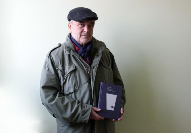 """Dariusz Filar i jego książka """"Szklanki żydowskiej krwi""""."""