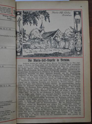 Zarys historii powstania parafii w Brętowie, opublikowany w przedwojennym czasopiśmie.
