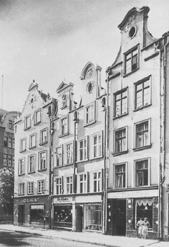 """Sklep firmy """"Olka"""" przy Heilige-Geist-Gasse 12 (ul. św. Ducha 2), 1931."""